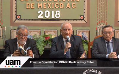 La Constitución de la Ciudad de México; realidades y retos. Club de periodistas. (parte 1 y 2)