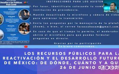 Los recursos públicos para la reactivación y el futuro de México