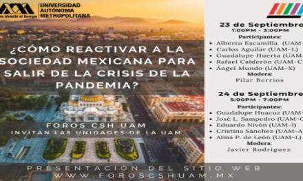¿CÓMO REACTIVAR A LA SOCIEDAD MEXICANA PARA SALIR DE LA CRISIS DE LA PANDEMIA?