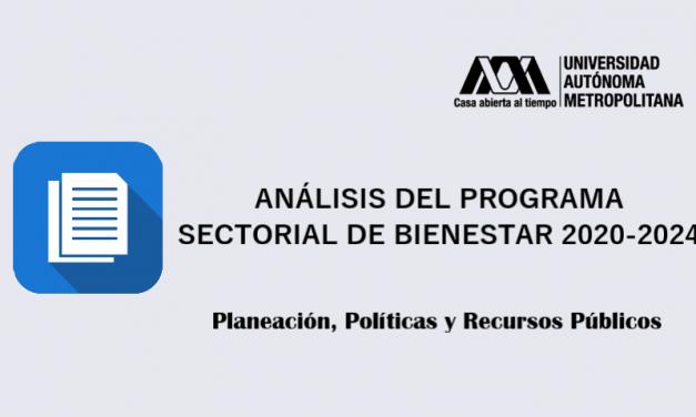 Análisis del programa sectorial de bienestar 2020-2024