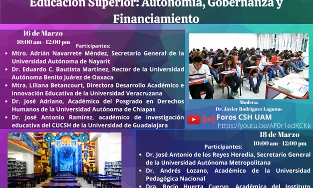 Educación Superior: Autonomía, Gobernanza y Financiamiento en las Universidades Públicas Mexicanas